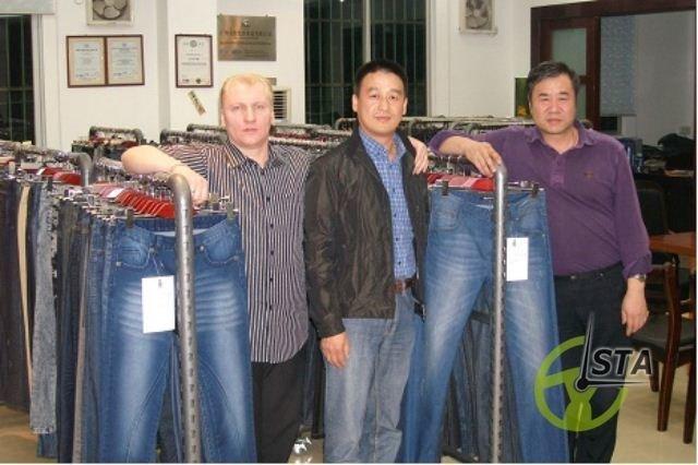 Китайская фабрика по производству джинсов